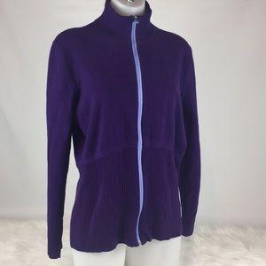 Title Nine Purple Zip Sweater